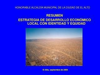 HONORABLE ALCALD A MUNICIPAL DE LA CIUDAD DE EL ALTO