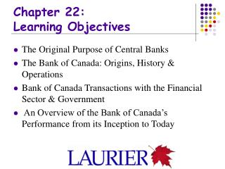 Chapter 22: Learning Objectives