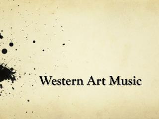 Western Art Music