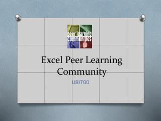 Excel Peer Learning Community
