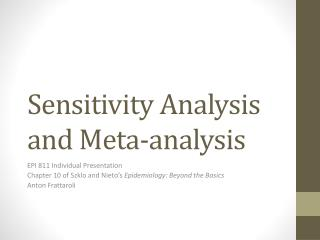 Sensitivity Analysis and Meta-analysis