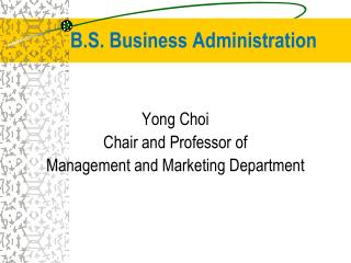 B.S. Business Administration