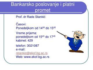 Bankarsko poslovanje i platni promet