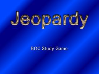BOC Study Game