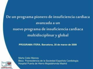 PROGRAMA ITERA. Barcelona, 20 de marzo de 2009
