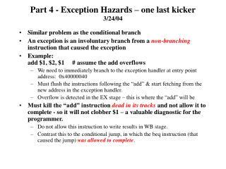 Part 4 - Exception Hazards – one last kicker 3/24/04