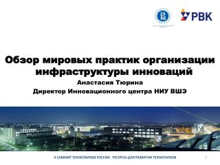 Обзор мировых практик организации инфраструктуры инноваций Анастасия Тюрина