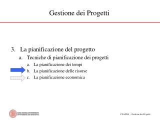 Gestione dei Progetti