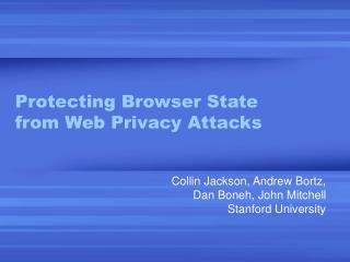Protecting Browser State from Web Privacy Attacks