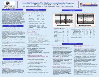 MossTalk Training for Word Retrieval Across Semantic Categories