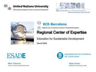 Regional Center of Expertise