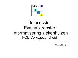 Infosessie  Evaluatierooster  Informatisering ziekenhuizen  FOD Volksgezondheid
