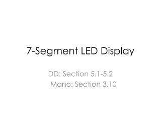 7-Segment LED Display