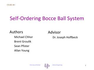 Self-Ordering Bocce Ball System