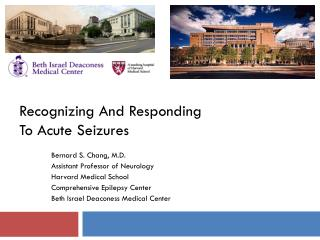 Recognizing And Responding To Acute Seizures