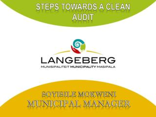 STEPS TOWARDS A CLEAN AUDIT