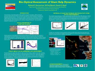 Bio-Optical Assessment of Giant Kelp Dynamics