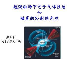超强磁场下电子气体性质 和 磁星的 X - 射线光度