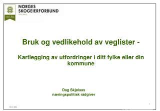 Bruk og vedlikehold av veglister - Kartlegging av utfordringer i ditt fylke eller din kommune