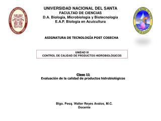 ASIGNATURA DE TECNOLOGÍA POST COSECHA