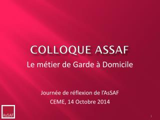 COLLOQUE ASSAF