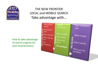 THE NEW FRONTIER  LOCAL and MOBILE SEARCH Take advantage with…