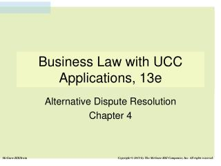 Business Law with UCC Applications, 13e