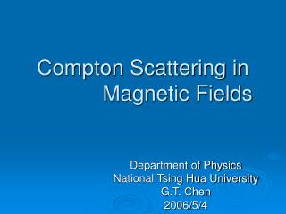 Compton Scattering in Strong Magnetic Fields