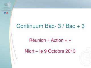 Continuum Bac- 3 / Bac + 3