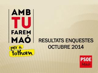 RESULTATS ENQUESTES  OCTUBRE 2014