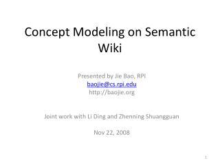Concept Modeling on Semantic Wiki