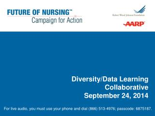 Diversity/Data Learning Collaborative September 24, 2014