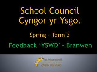 Feedback 'YSWD' –  Branwen