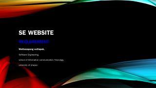 SE Website Requirement