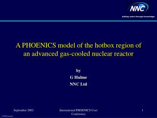 A PHOENICS model of the hotbox region of an advanced gas-cooled nuclear reactor