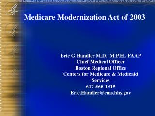 Medicare Modernization Act of 2003