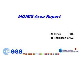 MOIMS Area Report