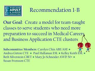 Recommendation 1-B