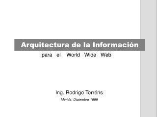 Arquitectura de la Informaci�n