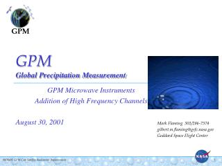 GPM Global Precipitation Measurement