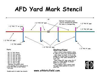 AFD Yard Mark Stencil