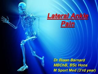 Lateral Ankle Pain