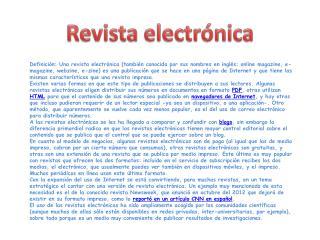 Revista electr�nica