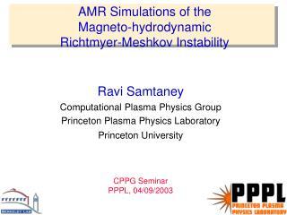 AMR Simulations of the  Magneto-hydrodynamic  Richtmyer-Meshkov Instability