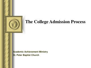 The College Admission Process
