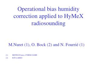 Operational bias humidity correction applied to HyMeX radiosounding