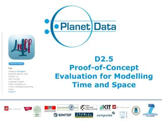 D2.5 Proof -of-Concept  Evaluation for Modelling  Time and  Space