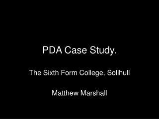 PDA Case Study.