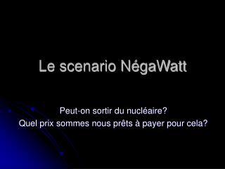 Le scenario NégaWatt