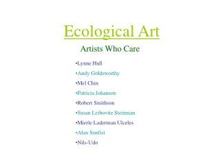 Ecological Art